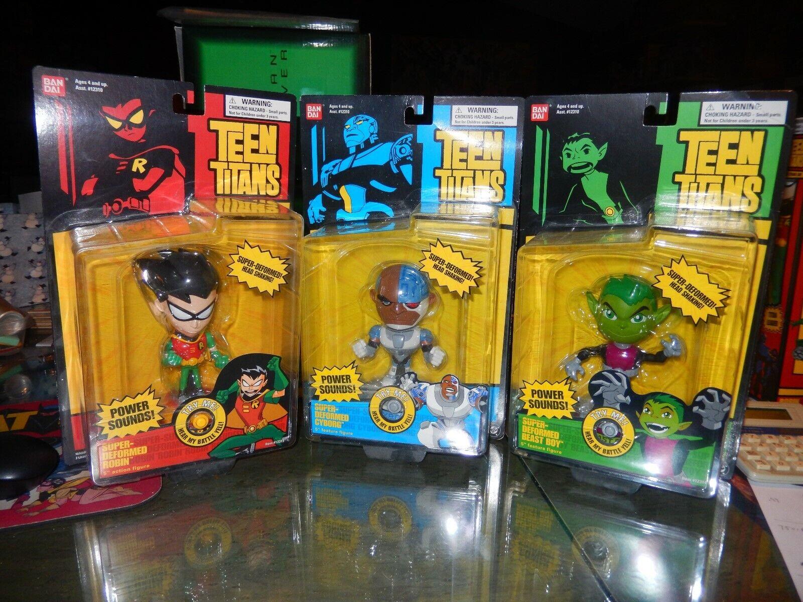 Teen Titans Titans Titans Lot Super Deformed Robin, Cyborg & Beast Boy Set of 3 MOC w  Sound 40ba07