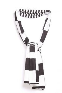 s158 In Verarbeitung Exquisite GroßZüGig White & Black Stripes & Rectangles Every Day Outerwear Unisex Warm Scarf