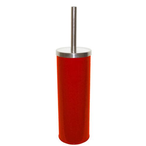 Geschlossene Rote Toilettenbürste WC-Bürste Toilettengarnitur aus Edelstahl