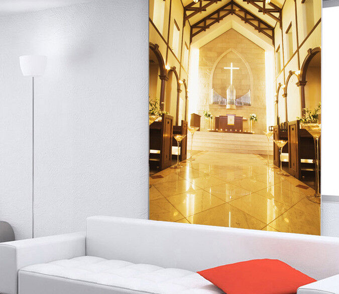 3D Holy Church 44 Wall Paper Wall Print Decal Wall Deco Indoor Mural Carly