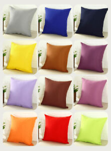 Doux-Carre-Dossier-Taie-d-039-oreiller-canape-taille-Throw-Cushion-Cover-case-16-034-18-034-20-034
