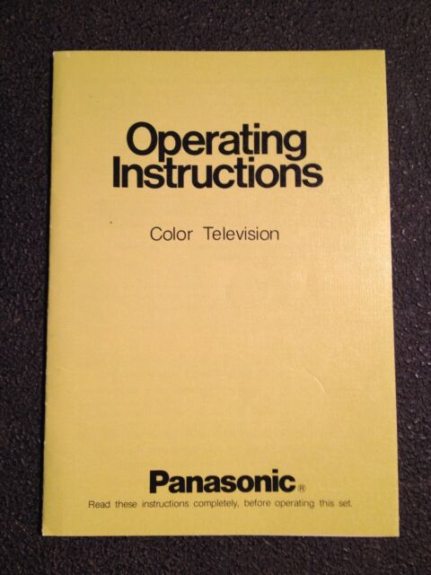 vintage 70s panasonic ct 316 television operating instructions rh ebay com