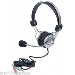 Cuffia-stereo-Manhattan-175517-con-Microfono-con-Asta-Flessibile-pc-auricolare