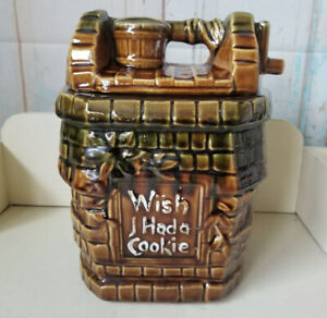Vintage McCoy Cookie Jar Wish I Had A Cookie Wishing Well USA Pottery