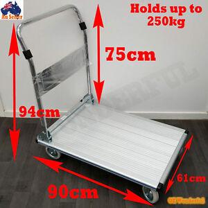 250kg-Aluminium-Folding-Heavy-Duty-Platform-Trolley-Hand-Truck-Foldable-Cart