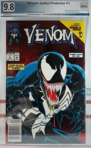 PGX-9-8-NM-VENOM-LETHAL-PROTECTOR-1-WP-RED-FOIL-NEWSSTAND-VARIANT-1993-CGC