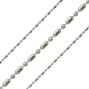 Finished Connector Chain 18 Inch Rhodium Plated Sterling Silver 925 D41//6