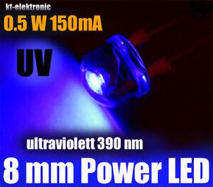 10 Stück LED 5mm UV ultraviolett