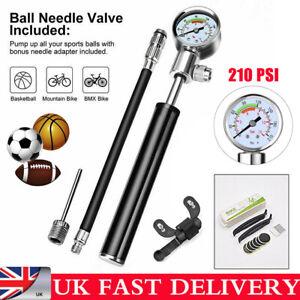 210psi MTB High Pressure Bike Compact Pump Suspension Fork Rear Shock Pump Tool