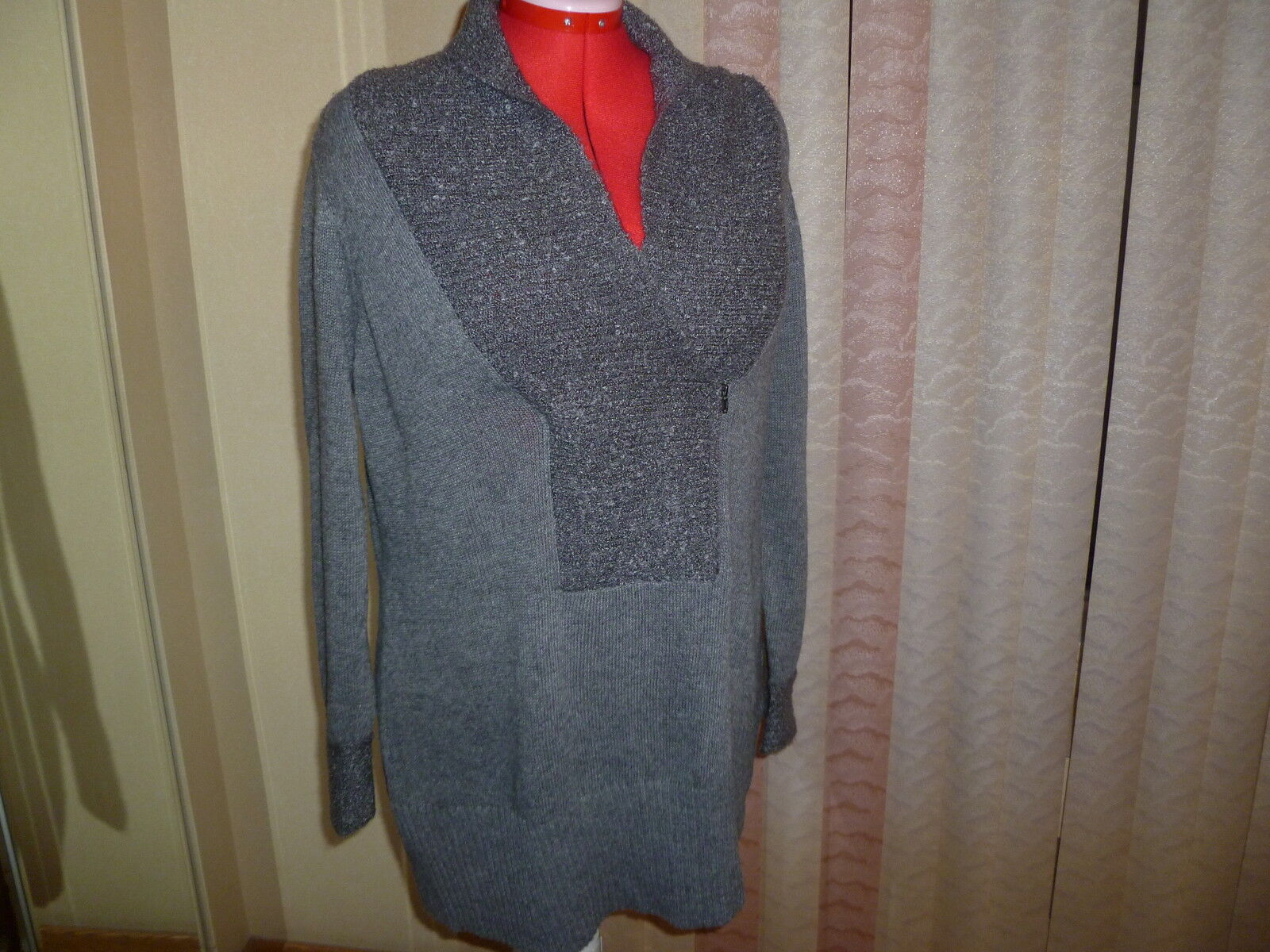 NWOT Olivia Sky (Nordstrom) sweater in heather grey long sleeves shawl collar 2X
