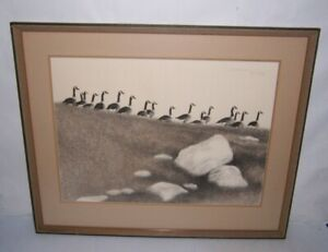 Canada Geese Framed Art Print Litho Signed Roy Thompson 88 100 Ebay