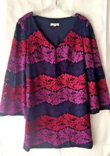 5be71e20b21 item 2 Trina Turk Women s Small Bouquet Floral V Neck Tunic Dress Bell Shift  Purple EUC -Trina Turk Women s Small Bouquet Floral V Neck Tunic Dress Bell  ...