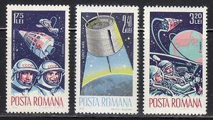 Romania-1965-MNH-Sc-1764-1766-Mi-2427-2429-Voskhod-2-amp-Gemini-3-crews