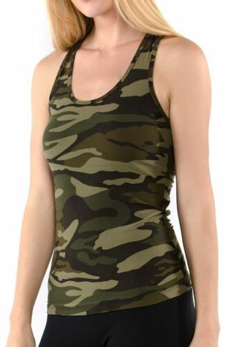 Active Camo Green and Black Sports Tank Top