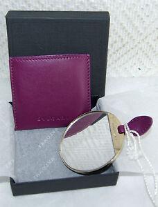 819e225b1464 Miroir de sac BULGARI dans sa pochette en cuir, neuf avec boite   eBay