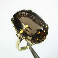 1381 - Opulenter 10 Gramm Ring aus Gelbgold 585 mit Rauchquarz - 1982