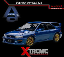 AUTOART 78602 1:18 SUBARU IMPREZA 22B BLUE (UPGRADED VERSION) DIECAST CAR MODEL
