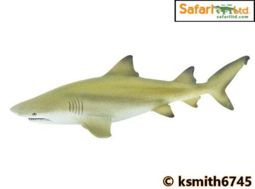 NOUVEAU * Safari requin Citron solide Jouet en plastique Poisson sauvage mer animaux marins