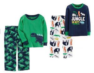 Carter/'s Little Boys 2 Pc Cotton /& Fleece Pajama Set NWT    Size  4