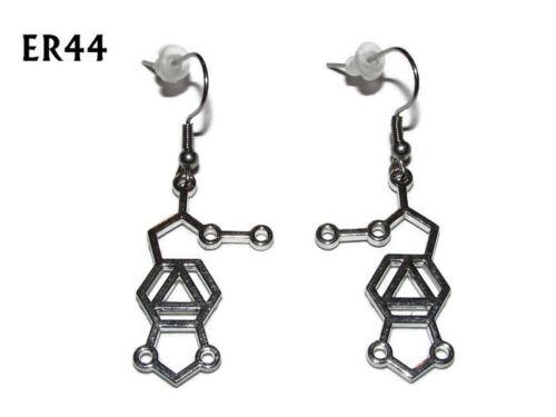 steampunk earrings mdma molecule meth drug hypoallergenic stainless steel #ER44
