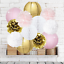 Pink-Gold-Party-Decorations-Furuix-12pcs-Tissue-Paper-Pom-Pom-Honeycomb-Ball-and thumbnail 1