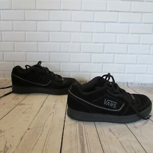Details about VANS Youth Vans Malone Black Leather Upper Lace Up Sneakers Shoes Size 7.5 Boy's