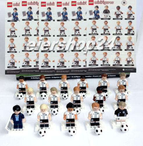 Kompletter Satz LEGO® MINIFIGUREN #71014 DfB DIE MANNSCHAFT Fußball Deutschland