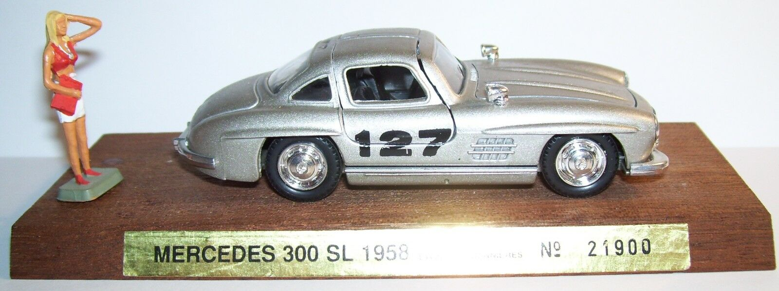 RARE CEC on BASE SOLIDO MERCEDES 300 SL 1958 RALLY LYON CHARBONNIERES REF21900