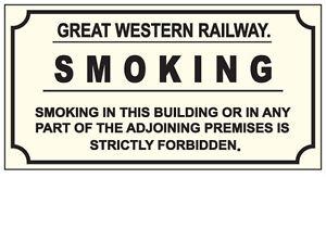 RAILWAY-SIGN-NO-SMOKING-GREAT-WESTERN-RAILWAY