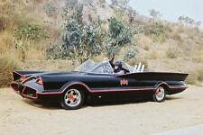 Batman Color Poster Print On Batmobile Full Length