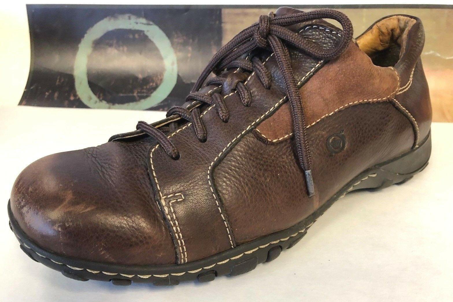 Born Brown Distress Leather Casual Lace Up Fashion shoes Men's Size 10   44 M W