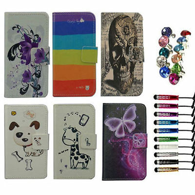 For LENOVO case Wallet Card luxury PU leather cartoon cute Cover + free gift