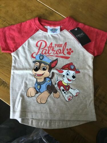 NEXT Paw Patrol Baby T Shirt Red And Stone 6-9 Mths BNWT