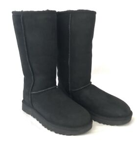 1f9660860ee3 Image is loading Ugg-Classic-Tall-ll-Sheepskin-and-Suede-Black-