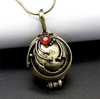 The Vampire Diaries Elena's Vervain Antique Bronze Locket Vintage Necklace Chain