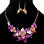 Fashion-Elegant-Women-Rhinestone-Crystal-Choker-Bib-Statement-Pendant-Necklace thumbnail 4