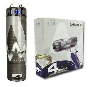 car capacitor wiring vm audio srsk4b 4 gauge car amplifier amp wiring kit+ 4.5 ...