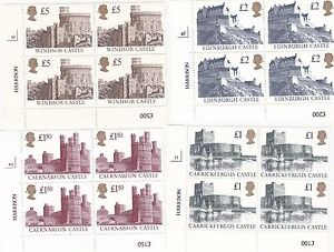 1992 CASTLES CYLINDER BLOCKS of FOUR £1,£1.50,£2,£5 Unmounted mint