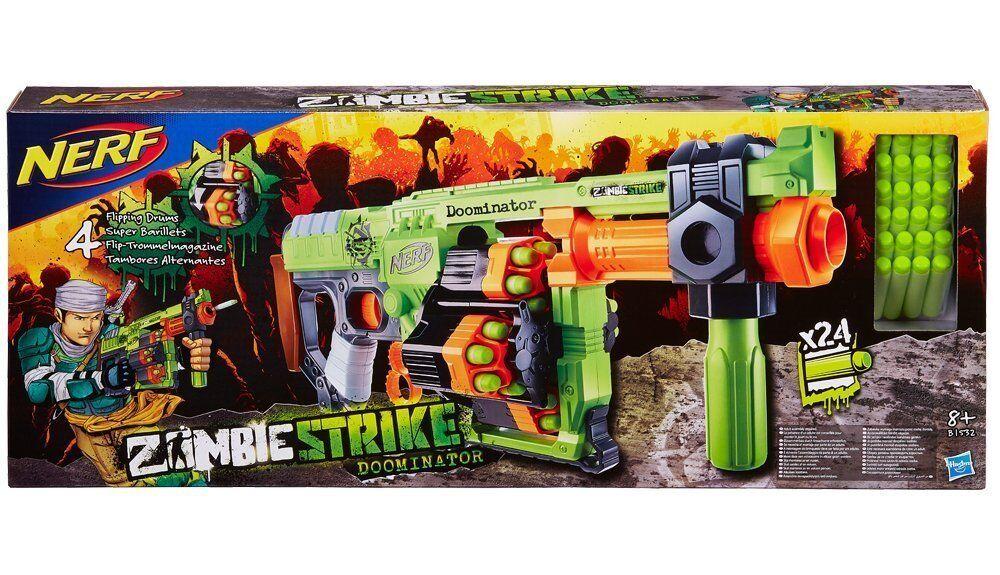 Brand Brand Brand New NERF Zombie Strike DOOMINATOR Dart Blaster