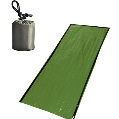 Outdoor Emergency Sleeping Bag Thermal Keep Warm Waterproof First Aid Bla TLZ8