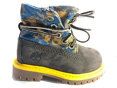 Timberland TODDLER KIDS WATERPROOF Roll-Top Leather Yellow Boots Shoes 8183R
