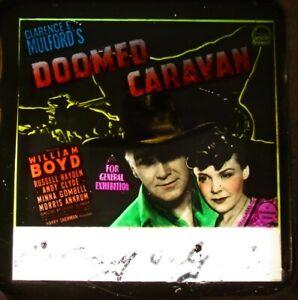 DOOMED-CARAVAN-1941-Rare-Australian-cinema-glass-slide-Hopalong-Cassidy-western