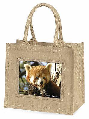Roter Panda-bär 'Liebe, die Sie Mama' Große Natürliche Jute-einkaufstasche Chris
