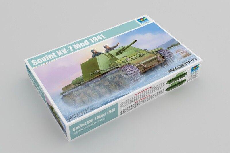 Trumpeter 09503 1 35 Static Model Soviet KV-7 Mod.1941 Tank Armored Car Panzer