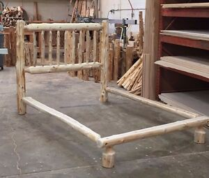 MONTANA LOG BED CABIN EDITION RUSTIC CEDAR $239 USA Handcrafted FREE SHIPPING!