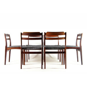 Set-of-6-Retro-Vintage-Danish-Rosewood-Dining-Chairs-60s-70s-Mid-Century-Modern