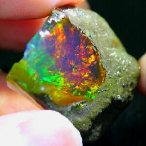quality natural earth mine Ethiopian opal raw rough gemstone extra fine quality unheated untreated welo opal rock material #B9 96 CRT AAA