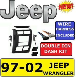 97 02 wrangler car stereo installation double din dash kit se sport Nissan 370Z Radio Wiring Harness image is loading 97 02 wrangler car stereo installation double din
