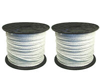 Electric Fence / Fencing Rope White 2x 400 Meters 6mm