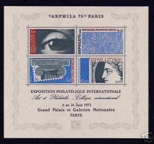 FRANCE-SUPERBE-VARIETE-034-BLOC-ARPHILA-1975-034-NEUFxx-TTB